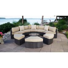 View Product - Santorini Round Outdoor Wicker Patio Daybed with Cushions