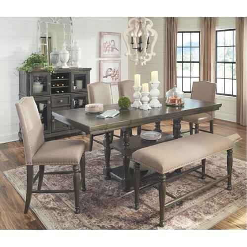 Audberry Dining Room Server Dark Grey