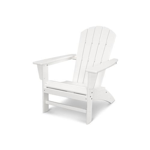 Vintage White Nautical Adirondack Chair in Vintage Finish
