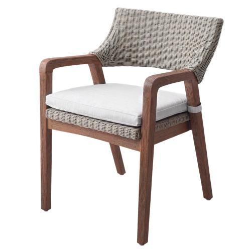 Product Image - Shiloh Rattan Dining Side Chair, Greige Gray