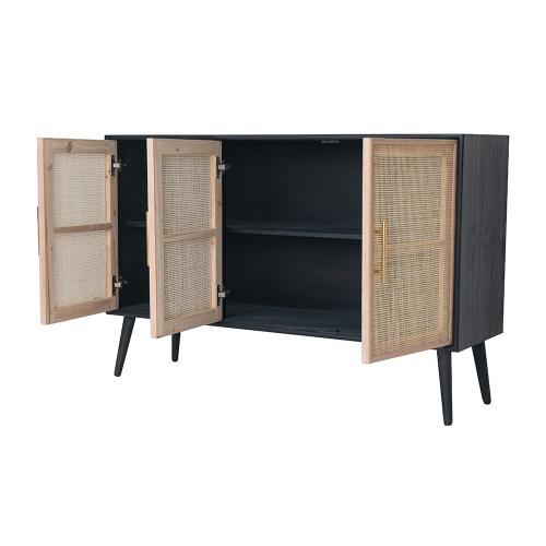 A & B Home - Three-Door TV Cabinet