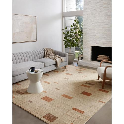 BOW-02 Tangerine / Taupe Rug