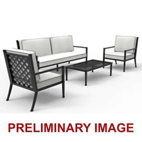 Accentrics Home - Metal Lattice Back Outdoor Sofa