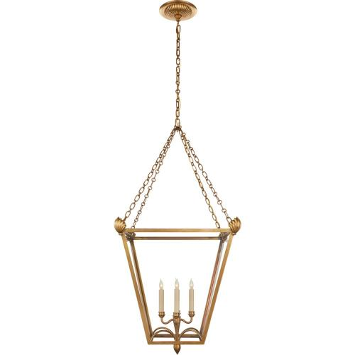 Visual Comfort CHC3310AB-CG E. F. Chapman Dumfries 4 Light 22 inch Antique-Burnished Brass Foyer Lantern Ceiling Light