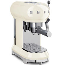 Smeg 50s Retro Style Design Aesthetic Espresso Coffee Machine, Cream