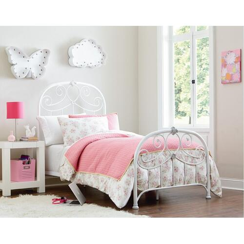 Lillian Twin Bed- White