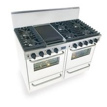 """48"""" All Gas, Convection, Sealed Burners, White"""