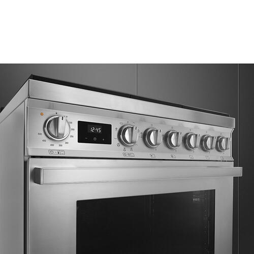 "Portofino Pro-Style Dual Fuel Range, Stainless Steel, 30"" x 25"""