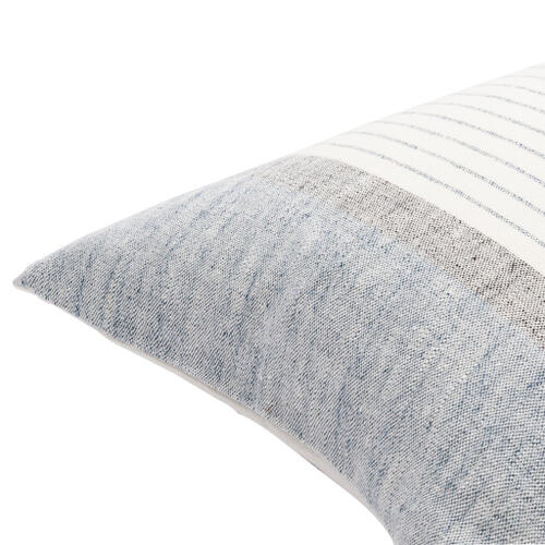 "Surya - Linen Stripe Buttoned LNB-004 18""H x 18""W"