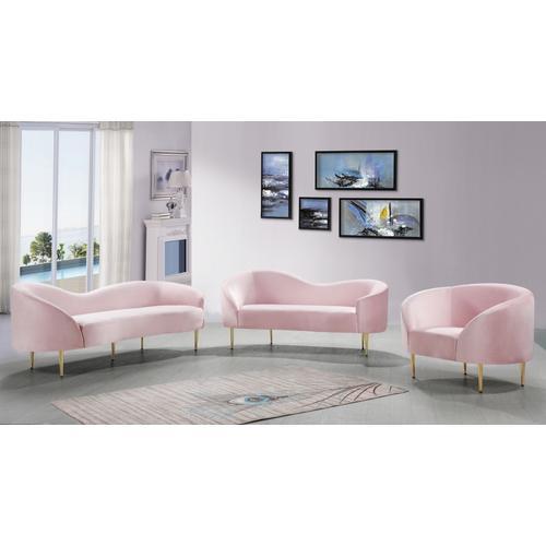 """Ritz Velvet Chair - 43.5"""" W x 31.75"""" D x 30.5"""" H"""