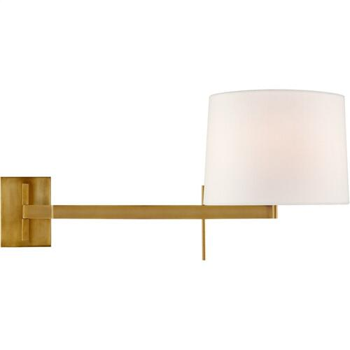 Visual Comfort BBL2162SB-L Barbara Barry Sweep 1 Light 12 inch Soft Brass Articulating Wall Sconce Wall Light, Medium Left