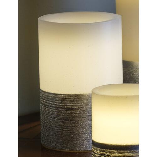 """6"""" Silver Scratch LED Candle"""