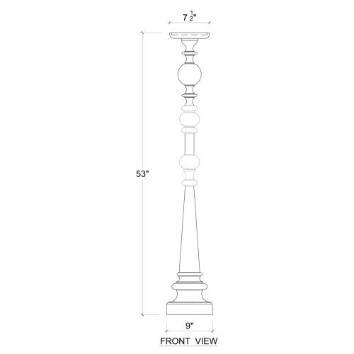 Boriche Tall Candle Stand