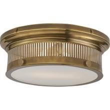 Visual Comfort CHC4391AB-WG E. F. Chapman Alderly 2 Light 13 inch Antique Burnished Brass Flush Mount Ceiling Light in Antique-Burnished Brass