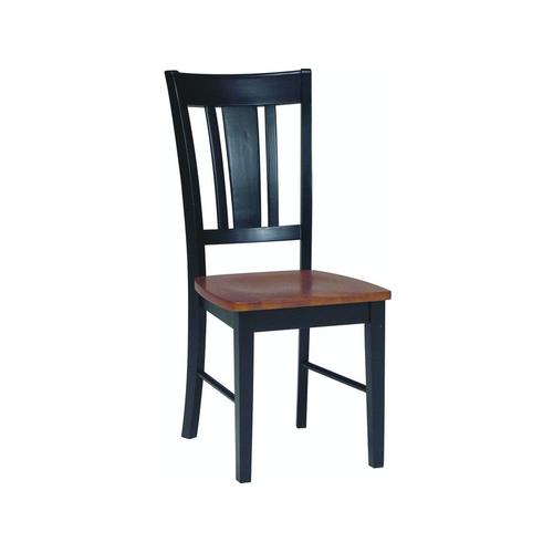San Remo Chair in Black & Cherry