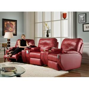 Two Arm Recliner with Cupholders