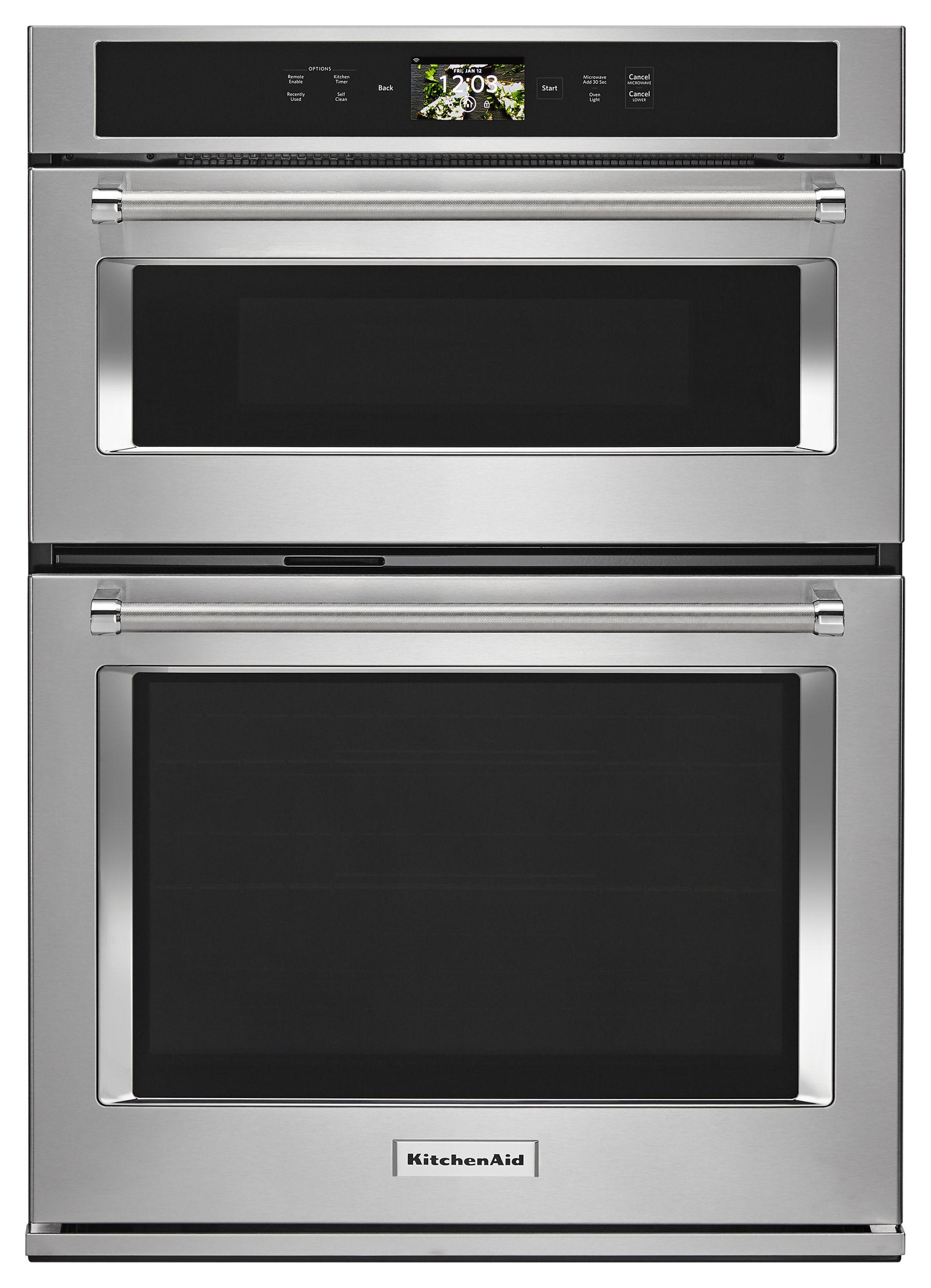 """KitchenAidSmart Oven+ 30"""" Combination Oven With Powered Attachments - Stainless Steel"""