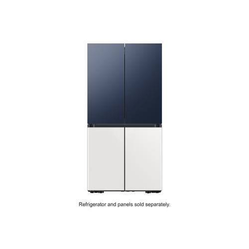 Samsung - BESPOKE 4-Door Flex™ Refrigerator Panel in White Glass - Bottom Panel
