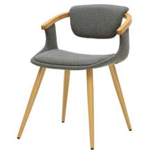Darwin KD Fabric Bamboo Chair, Stokes Gray/Natural