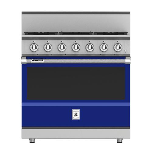 """Hestan - 36"""" 5-Burner Dual Fuel Range - KRD Series - Prince"""