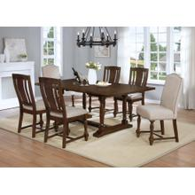 7829 7PC-MIX Trestle Dining Room SET