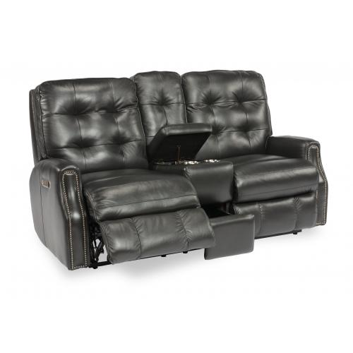 Product Image - Devon Power Reclining Loveseat with Console & Power Headrests