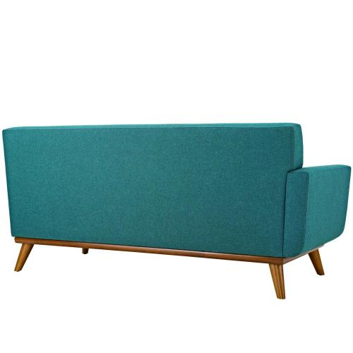 Engage Left-Arm Loveseat in Teal