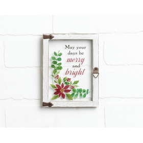 Window Plaque - May your days be merry & bright