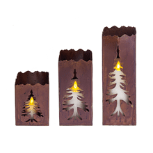 Rusted Tree Luminaire (3 pc. set)