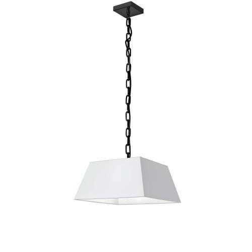 Product Image - 1lt Milano Small Pendant, Wht Shade, Blk