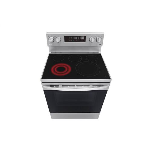 6.3 cu ft. Smart Wi-Fi Enabled Fan Convection Electric Range with Air Fry & EasyClean®