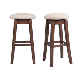 "See Details - Jax 30"" Swivel Backless Bar Stool Set"