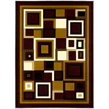 See Details - GL-26 BURGUNDY Contemporary Rectangle Rug