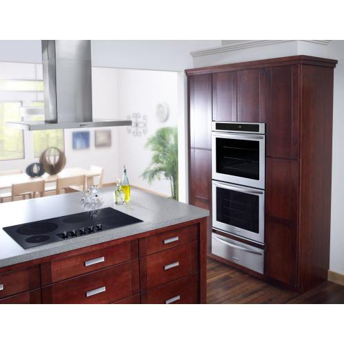 """Gallery - 36"""" Electric Cooktop with 5 Radiant Elements and Touch-Activated Controls - Black"""