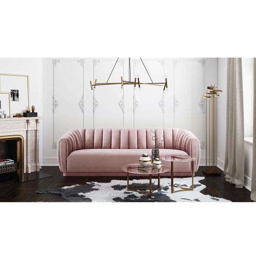 Tov Furniture - Arno Mauve Velvet Sofa