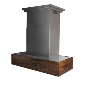 ZLINE Designer Series Wooden Island Mount Range Hood in Butcher Block (681iW) [Size: 30 inch] -