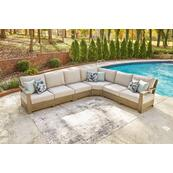 3-piece Outdoor Sectional With 2 Chairs