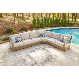 See Details - 3-piece Outdoor Sectional With 2 Chairs