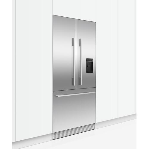 "Integrated French Door Refrigerator Freezer, 32"", Ice & Water"