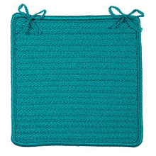 "Simply Home Chair Pad H049 Turquoise 15"" X 15"" (Set 4)"