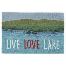 Liora Manne Frontporch Live Love Lake Indoor/Outdoor Rug Water