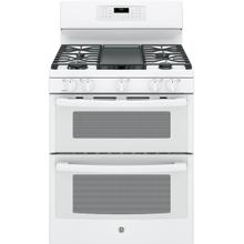 """SCRATCH & DENT GE® 30"""" Free-Standing Gas Double Oven Convection Range"""