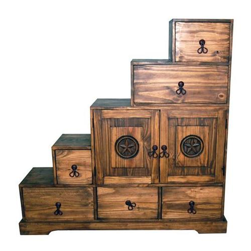 Tansu Pecan 5 Stairs Stand
