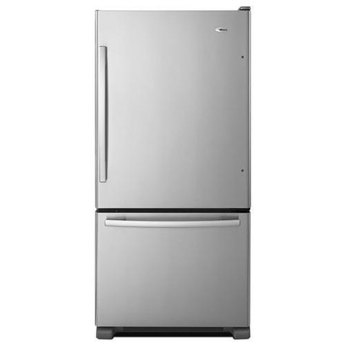 Amana - 22 cu. ft. Bottom-Freezer Refrigerator with Large Capacity - white