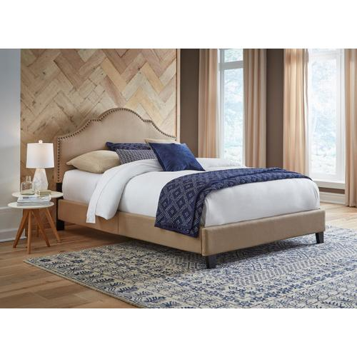 Product Image - All-in-One Upholstered Bed Toffee Fabric Queen