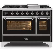 "48"" Inch Glossy Black Natural Gas Freestanding Range"