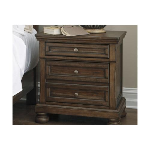 Flynnter Two Drawer Night Stand Medium Brown
