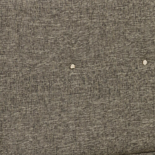 Grey Mid-Century Modern Upholstered Queen Bed Headboard