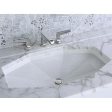 See Details - Under-mount Sink with Overflow - Stucco White