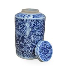 Blue & White Ceramic Urn